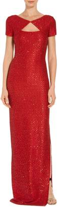 St. John Glamour Sequin Knit Gown