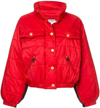 Chanel Pre-Owned standing collar puffy jacket