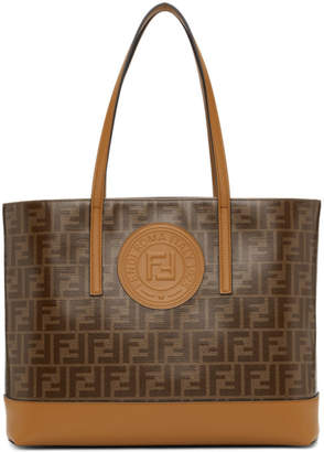 75769edfb4 Free Shipping at SSENSE · Fendi Brown Forever Tote
