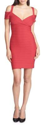 GUESS Cold Shoulder Bandage Dress