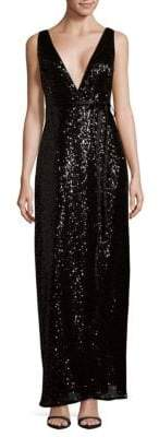 Aidan Mattox Sequined Wrap Dress