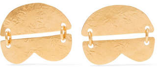 Annie Costello Brown - Dova Gold-tone Earrings