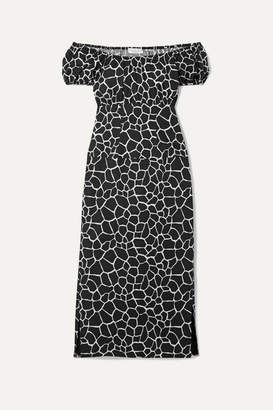 f6a1ad7ae0b076 Caroline Constas Calla Off-the-shoulder Printed Cotton-blend Poplin Midi  Dress -