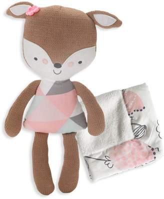 Lolli Living Woods Fiona Deer Softie Plush Blankie Set