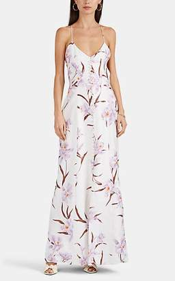 Zimmermann Women's Orchid-Print Linen Slipdress