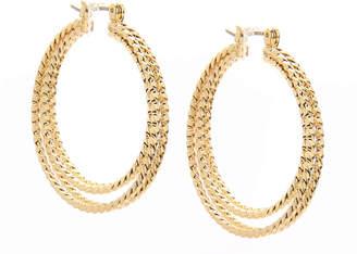 Kelly & Katie Textured Hoop Earrings - Women's