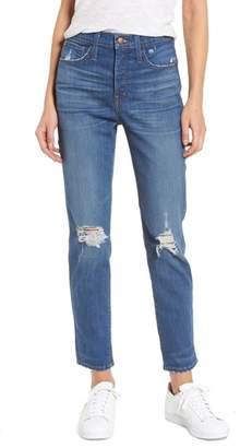 Madewell Distressed Slim Straight Leg Jeans