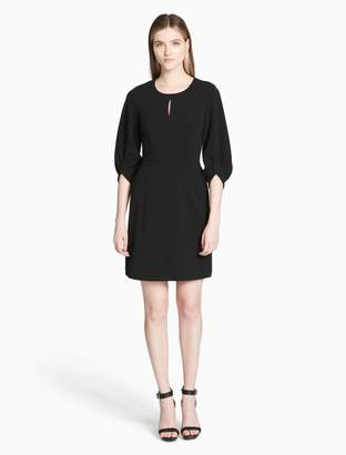 Calvin Klein keyhole bubble sleeve a-line dress