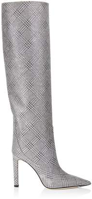 Jimmy Choo Mavis 100 Glitter Star Check Boots