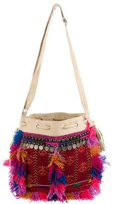 Antik Batik Canvas Embroidered Shoulder Bag