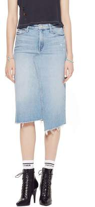 Mother The Straight A Step Midi Fray Skirt In Misbeliever