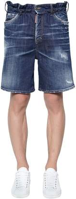 DSQUARED2 Marine Cotton Denim Shorts