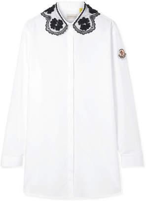 Simone Rocha Moncler Genius - 4 Lace-trimmed Cotton-poplin Blouse - White