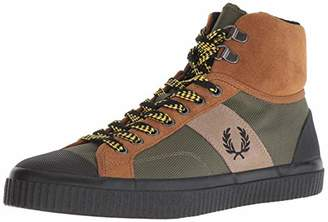 Fred Perry Men's Hughes MID Hike Poly/Suede Sneaker