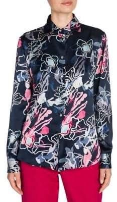 Giorgio Armani Printed Silk Blouse