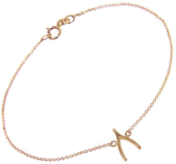 Jennifer Meyer Wishbone Chain Bracelet - Rose Gold