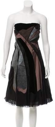 Rue Du Mail Silk Mini Dress w/ Tags