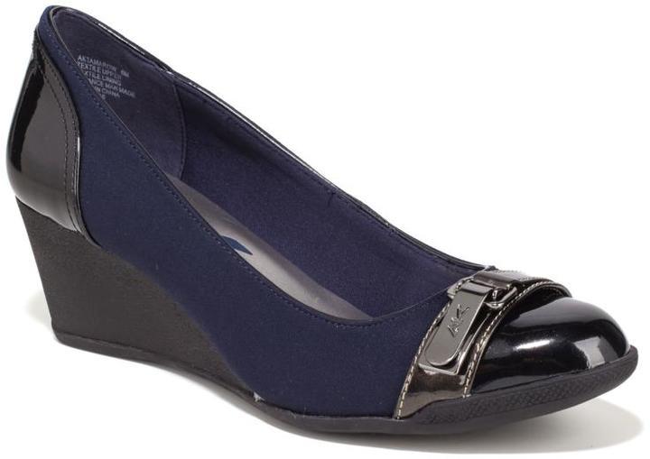 Anne KleinAnne Klein Sport Tamarow Patent Toe-Cap Wedge