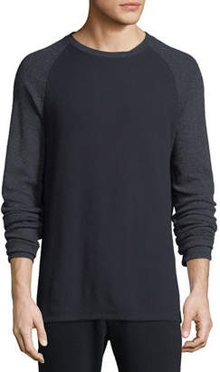 Vince Men's Long-Sleeve Crewneck Cotton-Blend T-Shirt