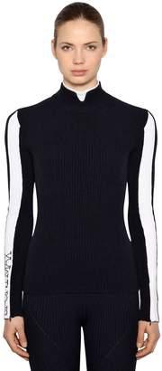 Sportmax Stretch Cashmere Rib Knit Sweater
