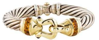 David Yurman Citrine & Garnet Cable Bracelet
