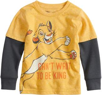 King Baby Studio Disneyjumping Beans Disney's The Lion Boy Simba Mock Layer Graphic Tee by Jumping Beans