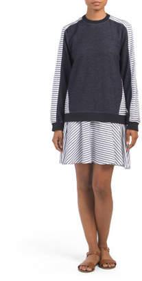 Tanner Drop Waist Sweatshirt Dress