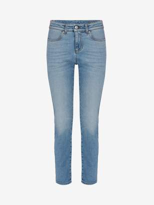 Alexander McQueen Fitted Denim Pants