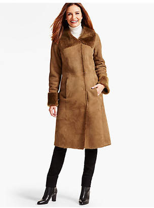 Talbots Long Shearling Coat