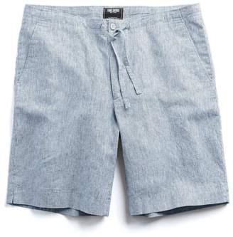 "Todd Snyder Striped 9"" Drawstring Short in Indigo"