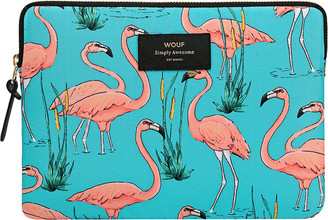 Flamingos Wouf - Pink iPad Case