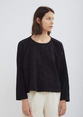 Black Crane Jacquard Top