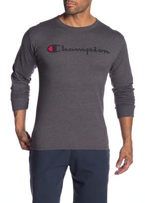 Champion Logo Print Long Sleeve Tee