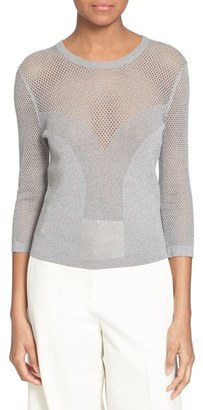 Tracy Reese Mixed Stitch Crewneck Sweater $198 thestylecure.com
