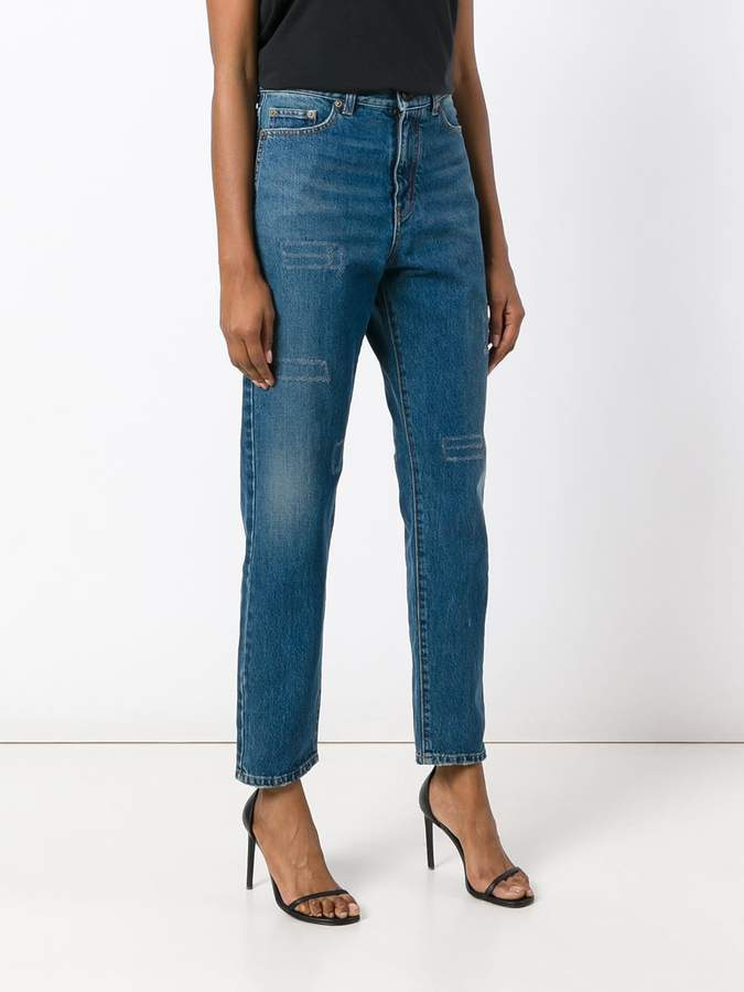 Saint Laurent high-waisted straight leg jeans