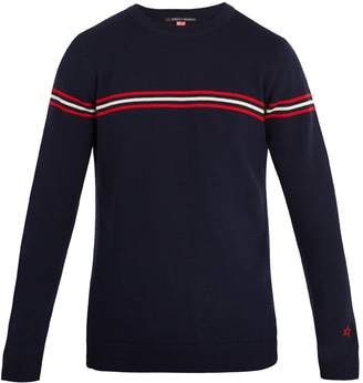 PERFECT MOMENT Orelle striped-detail wool sweater