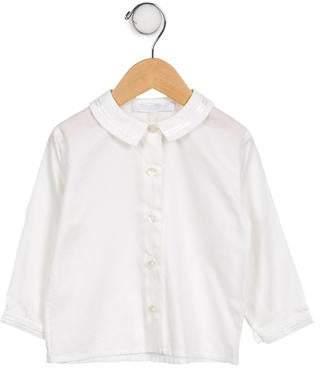 Tartine et Chocolat Girls' Long Sleeve Button-Up Top