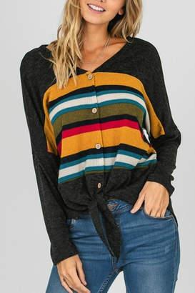 Fashion District Striped Color Top