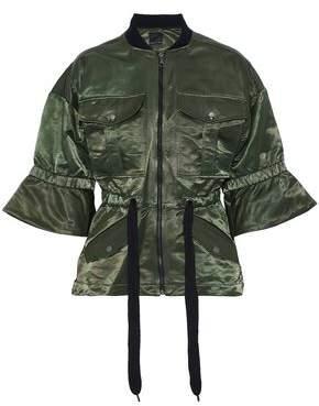 Marissa Webb Cotton-Blend Satin Bomber Jacket