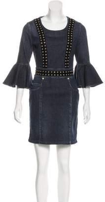 Pierre Balmain Embellished Denim Dress