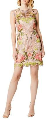 Karen Millen Cutout Embroidered Lace Dress