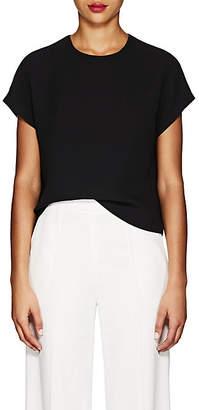Lisa Perry Women's Silk Crepe Flyaway Blouse - Black