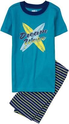 Crazy 8 Crazy8 Dream Wave Shortie 2-Piece Pajama Set
