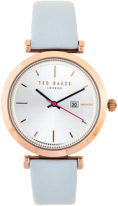 Ted Baker TE10031520 Rose Gold-Tone & Light Blue Watch
