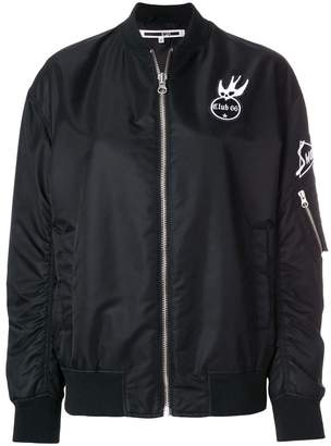 McQ patch detail bomber jacket