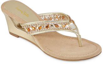 East Fifth east 5th Womens Fancy Wedge Sandals