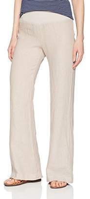 Three Dots Women's Woven Linen Wide Loose Pant