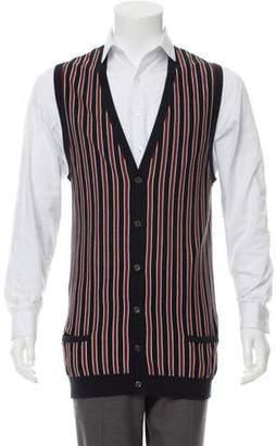 Gucci Striped Merino Wool Vest w/ Tags
