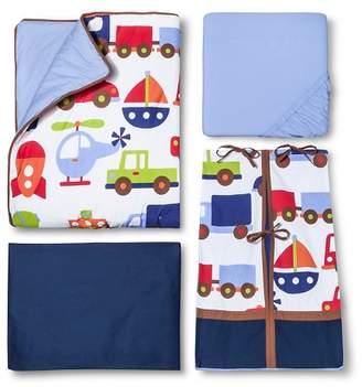 Bacati Crib Bedding Set - 10pc - Transportation