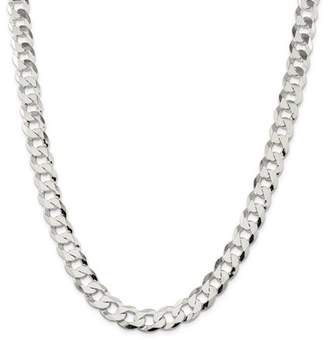 Jewelrypot Sterling Silver 8in 11.75mm Close Link Flat Men's Curb Chain Bracelet